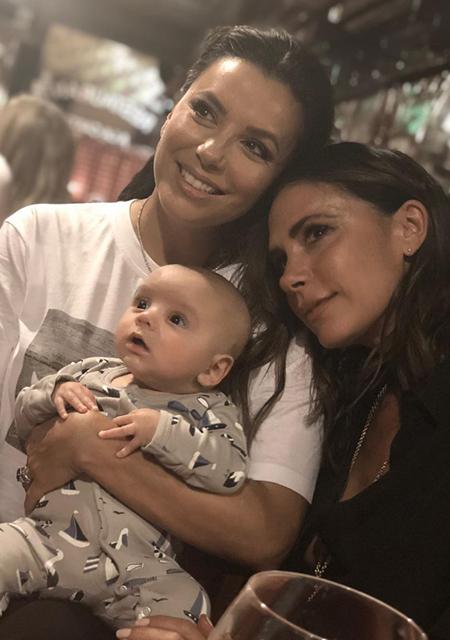 Ева Лонгория с сыном Сантьяго и Виктория Бекхэм
