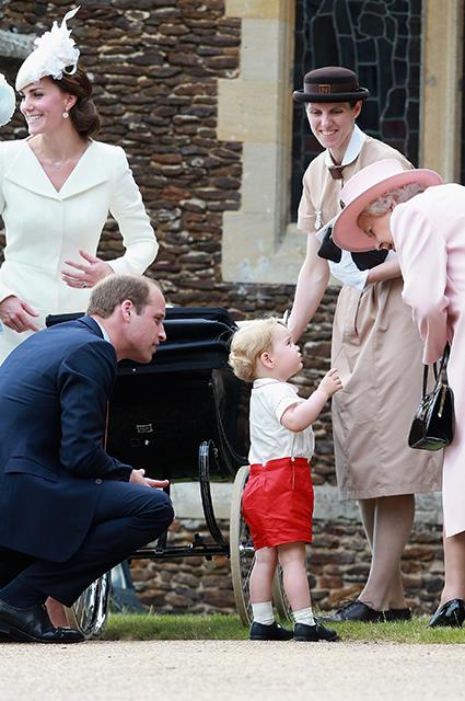 Кейт Миддлтон и принц Уильям с детьми, Мария Тереза Туррион Борралло и королева Елизавета II