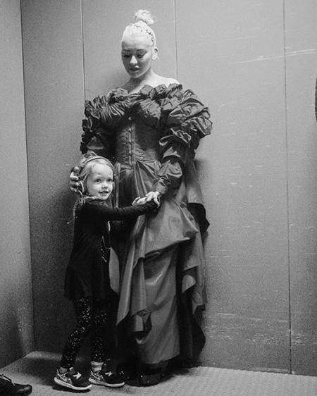 Кристина Агилера с дочерью