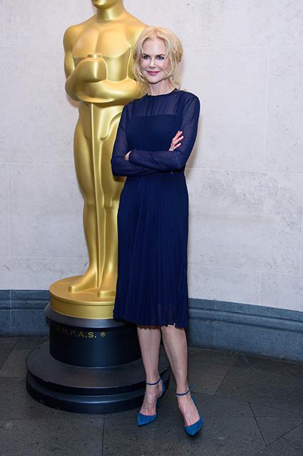 Ничего лишнего: Николь Кидман в сдержанном образе на приеме в Национальной галерее в Лондоне