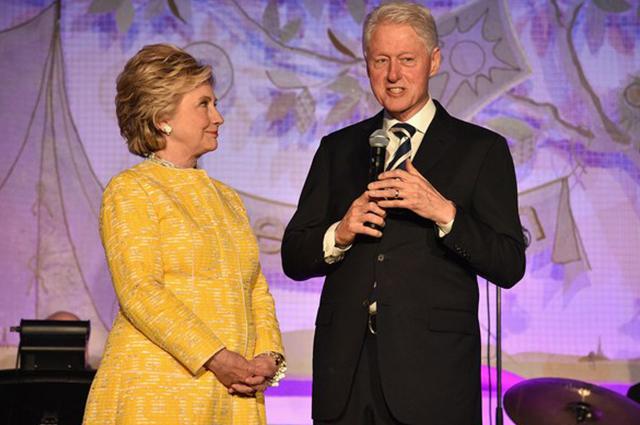 Хилари и Билл Клинтон