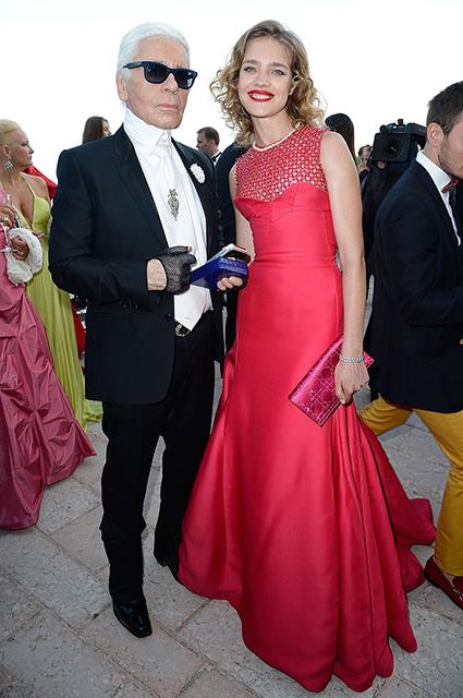 Карл Лагерфельд и Наталья Водянова, 2013 год