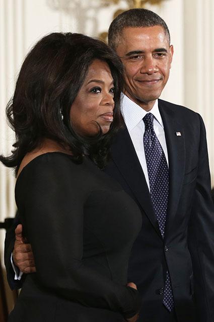 Опра Уинфри и Барак Обама
