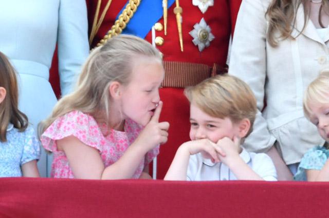Саванна Филлипс и принц Джордж. Июнь 2018 года