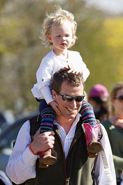 Питер Филлипс с дочерью, 2013 год