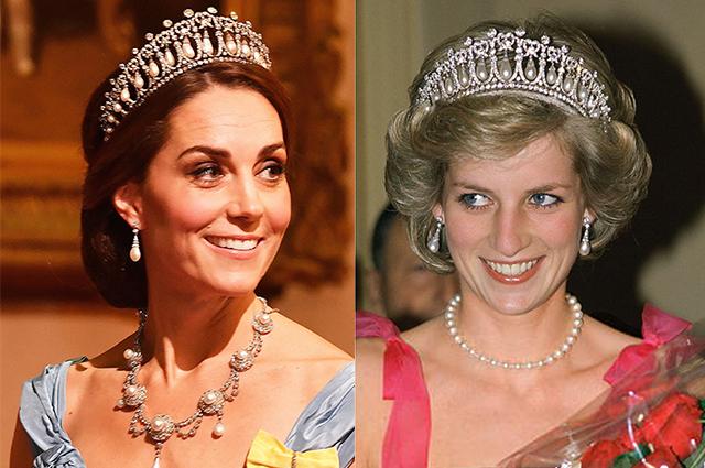 Кейт Миддлтон в четвертый раз надела любимую тиару принцессы Дианы