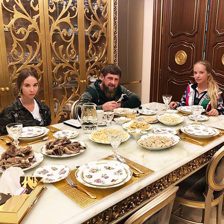 Рамзан Кадыров и Лиза Пескова