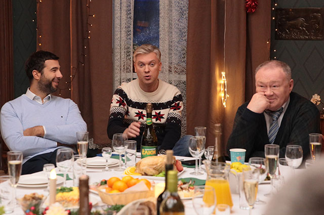 Иван Ургант, Константин Хабенский, Катерина Шпица и другие на съемках фильма