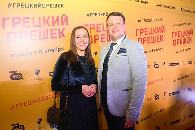 Елена Панова с гостем премьеры