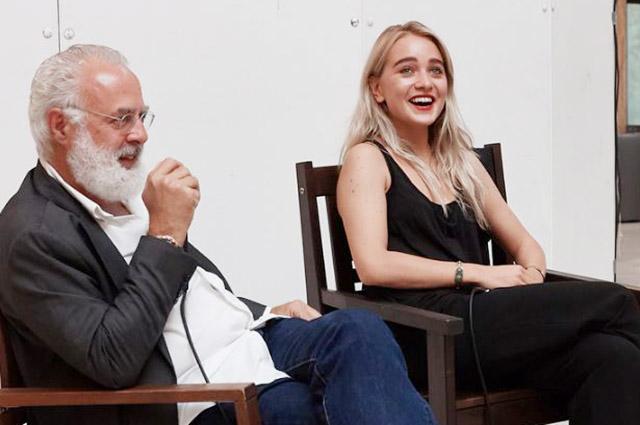 Франческо Бонами (один из самых авторитетных и влиятельных кураторов в мире современного искусства, куратор нескольких крупных биеннале, редактор журнала Flash Art)и Виктория Михельсон