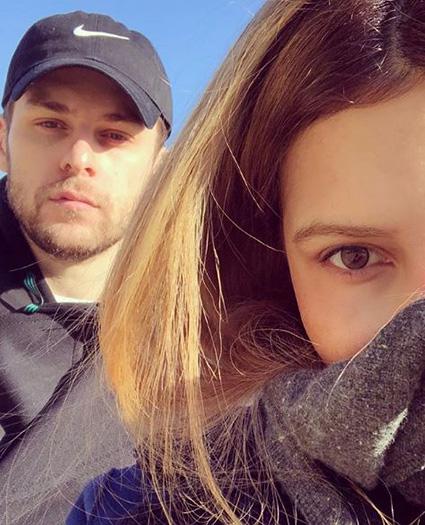 Элен Мансир с мужем