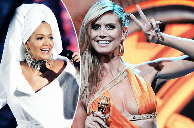 От агитплаката до банного халата: вспоминаем, что носили звездные ведущие MTV Europe Music Award
