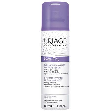 Очищающая дымка-спрей для интимной гигиены Gyn-Phy Brume Nettoyante Hygiène Intime, Uriage