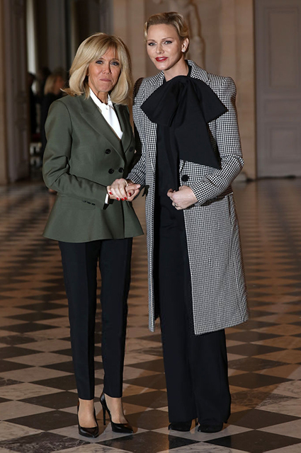 Брижит Макрон и княгиня Монако Шарлен