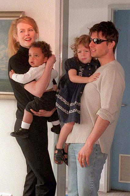 Николь Кидман и Том Круз с детьми, 1996 год