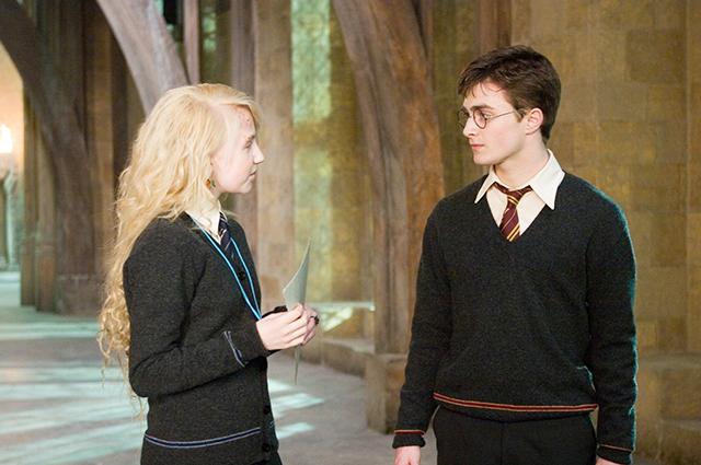 Эванна Линч и Дэниел Рэдклифф в телесаге о Гарри Поттере