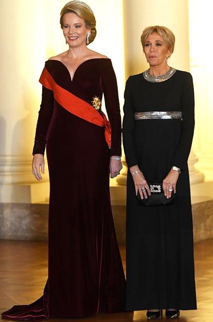 Королева Матильда и Брижит Макрон