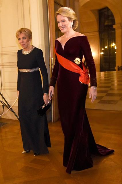 Брижит Макрон и королева Матильда