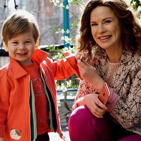 Алина Ротенберг с сыном от второго брака