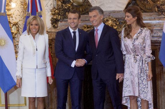 Мелания Трамп, Ангела Меркель и Брижит Макрон на саммите G20