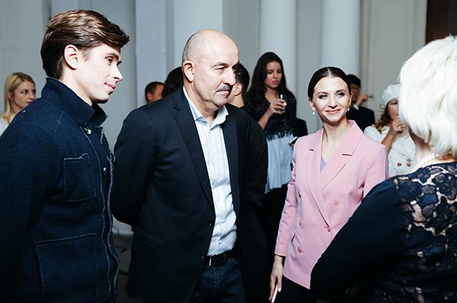 Юлия Барановская, Божена Рынска и другие на открытии выставки современного искусства
