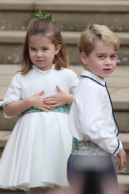 СМИ обсуждают проказы принца Джорджа и его старшей сестры Саванны Филлипс на свадьбе принцессы Евгении