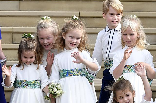 Принцесса Шарлотта, Саванна Филлипс, принц Джордж и другие дети на свадьбе