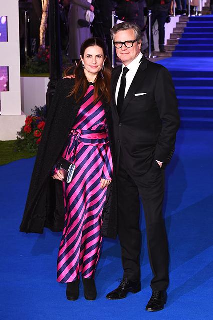 Колин Ферт с супругой Ливией Джуджолли