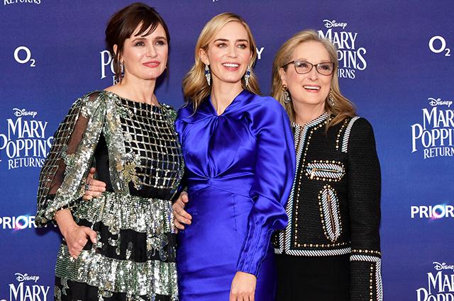 Эмили Блант, Мерил Стрип, Колин Ферт и другие на премьере фильма «Мэри Поппинс возвращается» в Лондоне