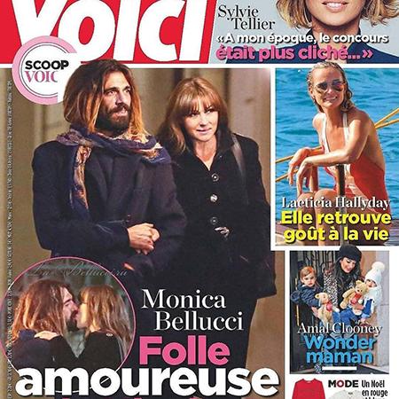 Николас Лефевр и Моника Беллуччи на обложке французкой прессы