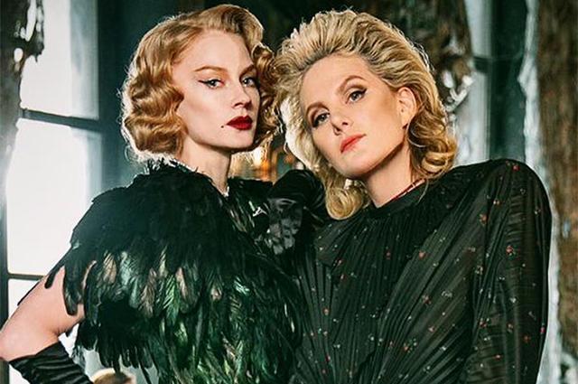 «Изумрудные бестии»: Рената Литвинова и Светлана Ходченкова в образах роковых красавиц на съемках фильма