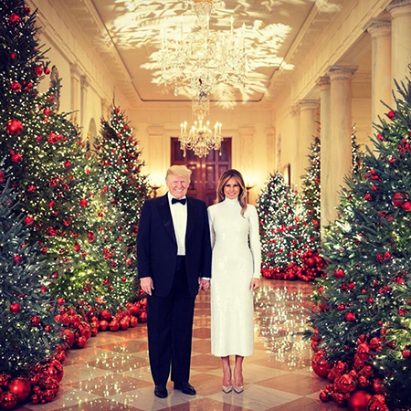 Дональд и Мелания Трамп устроили рождественскую вечеринку в Белом доме