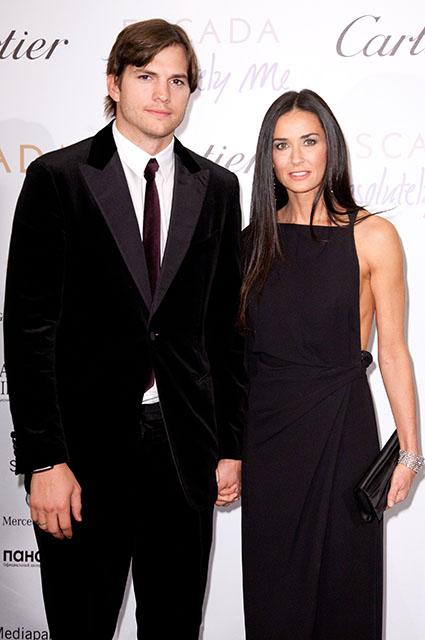 Эштон Катчер и Деми Мур, 2010 год