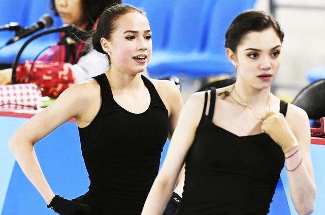 Алина Загитова — первая, а Евгения Медведева на 14-м месте после короткой программы на чемпионате России