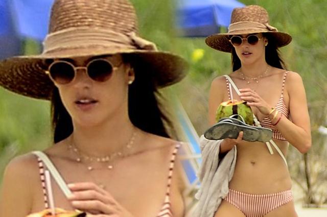 Шляпа, бикини, кокос: Алессандра Амбросио отдыхает в Бразилии
