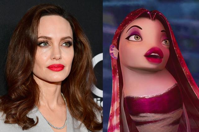 Анджелина Джоли, Тина Кунаки, Уилл Смит и другие звезды, похожие на мультяшных и киногероев