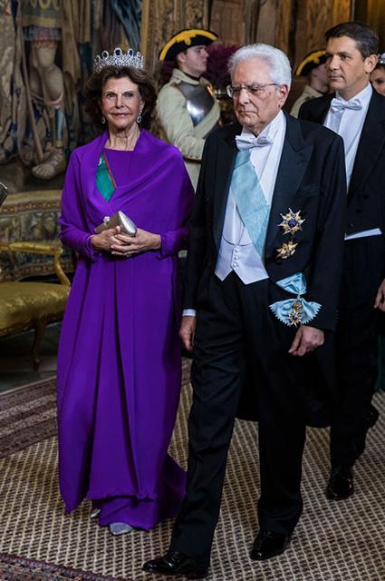 Королева Сильвия и Серджо Маттарелла