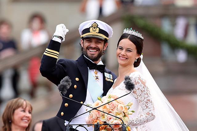 Принц Карл Филипп и принцесса София в день свадьбы
