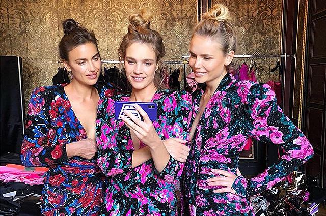 Ирина Шейк, Наталья Водянова и Наташа Поли на кадрах бэкстейджа съемки юбилейного номера Vogue: видео