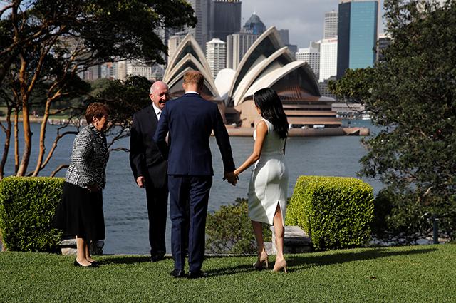 Меган Маркл, принц Гарри, генерал-губернатор Питер Косгроув с женой Линн