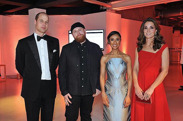 Принц Уильям и Кейт Миддлтон с гостями вечера