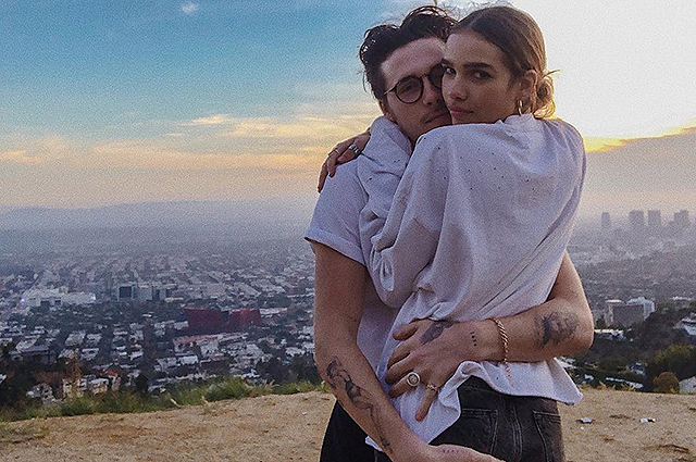 Бруклин Бекхэм наслаждается романтикой в Голливуде со своей новой девушкой Ханой Кросс