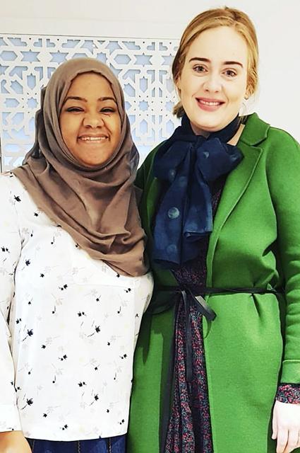 Адель с соосновательницей сообщества Hubb Community Kitchen