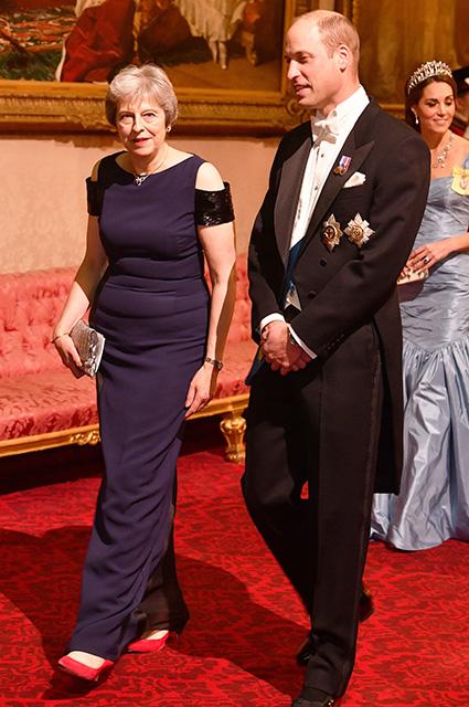 Тереза Мэй и принц Уильям