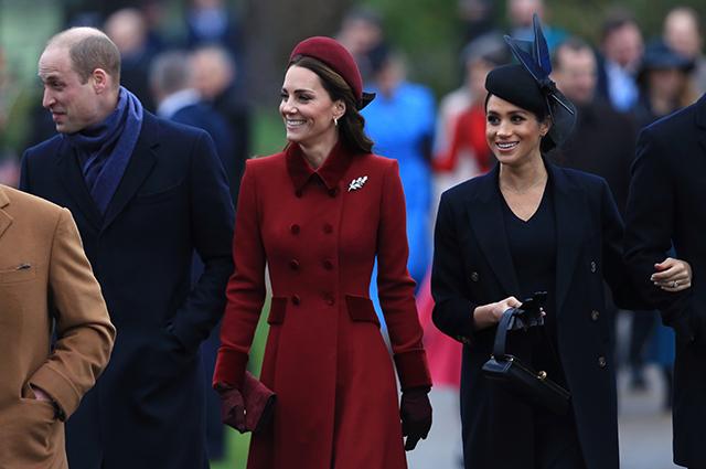 Принц Чарльз, принц Уильям, Кейт Миддлтон, Меган Маркл, принц Гарри