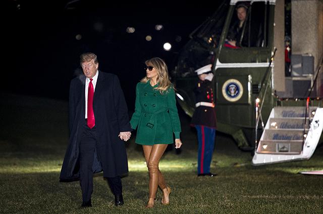 Наконец без каблуков: Мелания Трамп вместе с мужем вернулась в Вашингтон