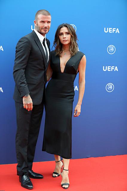 Редкий светский выход: Дэвид и Виктория Бекхэм посетили жеребьевку Лиги чемпионов в Монако
