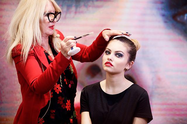 Тилан Блондо стала моделью на мастер-классе в Москве