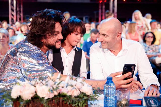 Филипп Киркоров с сыном Мартином и Игорь Крутой