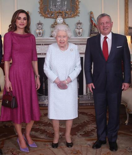 Королева Рания, королева Елизавета II, король Абдалла II